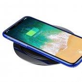 Baseus Metal iPhone Wireless Hızlı Siyah Şarj Cihazı 7.5w-4