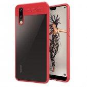 Huawei P20 Lite Bumper Kırmızı Kılıf Arka Koruyucu Kapak