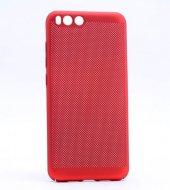 Xiaomi Mi6 Kılıf Mesh Delikli Sert Kapak + Ekran Koruyucu Temperl-6