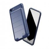 Baseus Ample iPhone 7 - 8, 8 Lacivert Şarjlı Kılıf Arka Koruyucu