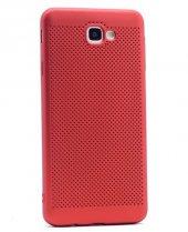 Samsung Galaxy J5 Prime Kılıf Mesh Delikli Silikon Kapak + Kırılm-2