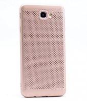 Samsung Galaxy J5 Prime Kılıf Mesh Delikli Silikon Kapak + Kırılm-4