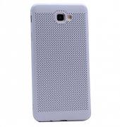 Samsung Galaxy J5 Prime Kılıf Mesh Delikli Silikon Kapak + Kırılm-5