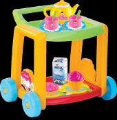 Oyuncak Mutfak Seti Candy Çay Servis Arabası 03354