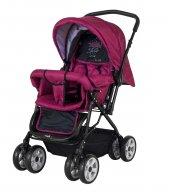 Crystal Baby 212 Mega Çift Yönlü Bebek Arabası - Bordo