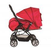 Crystal Baby 212 Mega Çift Yönlü Bebek Arabası - Kırmızı-2