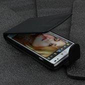 LG Optimus L9 Kapaklı Deri Kılıf - Siyah