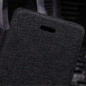 Apple iPhone 5S/5 Nillkin Marka Yan Model Dokulu Deri Kılıf - Siy    -3