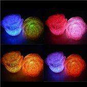 Gül Modeli Renk Değiştiren, Led Işıklı, Pilli Gece Lambası - Deko-2
