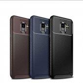 Samsung Galaxy J6 Ultra Soft Negro Karbon Silikon Kılıf + Nano Ekran Koruyucu-4