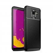 Samsung Galaxy J6 Ultra Soft Negro Karbon Silikon Kılıf + Nano Ekran Koruyucu