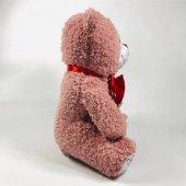Kalp Tutan Sevimli Pudra Peluş Ayı - Sevgiliye Hediyelik 50cm-4