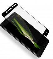Nokia 5 Kırılmaz Cam Siyah Temperli Ekran Koruyucu Kenarları Tam Kaplayan