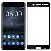 Nokia 5 Kırılmaz Cam Siyah Temperli Ekran Koruyucu Kenarları Tam Kaplayan-3