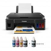 Canon Pixma G3415 Yazıcı ve Bitmeyen Kartuş Sistemi Photoink Mürekkepli - Siyah