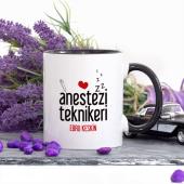 Kişiye Özel Lacivert Renkli Anestezi Teknikeri Kupa Bardak