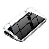 Baseus Manyetik Metalic Gümüş iphone X / XS Kılıf