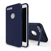 Baseus Hermit Tutucu Stantlı Kılıf İphone 7 Plus 8 Plus Koyu Mavi