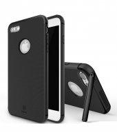 Baseus Hermit Tutucu Stantlı Kılıf İphone 7 Plus 8 Plus Siyah