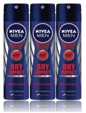 Nivea Deo Sprey Erkek Deodorant Dry İmpact...