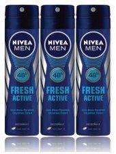 Nivea Deo Sprey Erkek Deodorant Fresh Active...