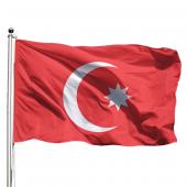 Osmanlı Bayrağı 70x105 - Tek Kat Raşel