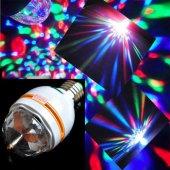 3 Renk Işık Yansıtan Dekoratif Lamba Crystal Magic Bulb