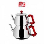Taç TT1351 Asya Orta Boy Kırmızı Kulplu Çaydanlık