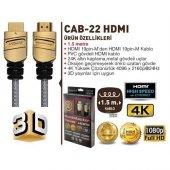 Goldmaster CAB-22 1,5 Metre Altın Uçlu 3D HDMI Kablo-2