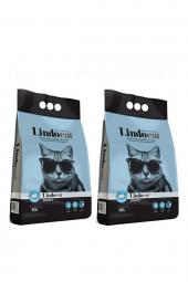 Lindo Cat Topaklaşan Sabunlu İnce Taneli Kedi Kumu 10 LT X 2 ADET