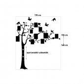 Aile Ağacı-1 Kristal Taşlı Kadife Duvar Sticker 6027 Adet Kristal Taş 148X170 Cm-3