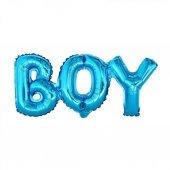 Mavi Boy Yazılı Folyo Balon, Erkek Doğum Odası, Cinsiyet Partisi