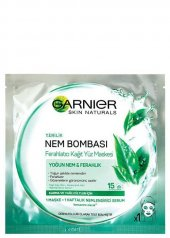 Garnier Nem Bombası Kağıt Maske Yeşil Yağlı Cilt 32 g