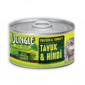 Jungle Tavuklu Hindili Yaş Ezme Kedi Maması 85...