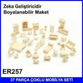 Ertanoy ER257 Ahşap 37Parça Çoklu Mobilya Boyanabilr 3D Maket Set-2