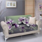 Else Mor Çiçekler 3d Kanepe Çekyat Koltuk Örtüsü Kılıfları