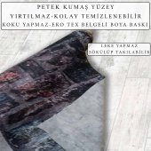 ELSE GRİ MERMER 3D 3 BOYUTLU BASKILI DESENLİ KUMAŞ DUVAR KAĞIDI-2
