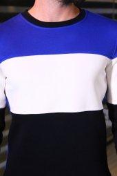 Sevgili Kombinleri Parçalı Desenli Sweatshirt-3