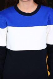 Sevgili Kombinleri Parçalı Desenli Sweatshirt-4