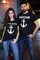 Sevgili Kombini Captain First Mate Siyah Tişört Kısa Kollu Tshirt