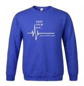 Keep Calm And Sweatshirt Mavi
