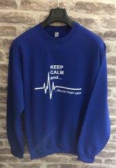 Keep Calm And Sweatshirt Mavi-4
