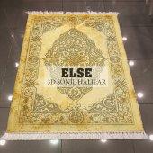 Else Sarı Osmanlı Dekoratif Modern 3d Kilim Şönil Halı