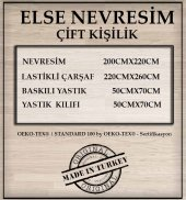 ELSE KALPLİ KIRMIZI PEMBE ÇİFT KİŞİLİK BASKILI 3D NEVRESİM TAKIMI-2
