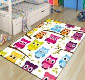 Sevimli Baykuşlar 3d Modern Çocuk Odası Halıları 3
