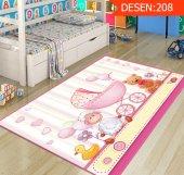 Kuzulu Ayıcıklı Pembe Bebek Kız Çocuk Odası Halıları-2