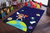 Eç Uzy001 3d Uzay Temalı Antialerjik Çocuk Odası Halısı