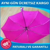Tam Otomatik Açılır Kapanır Süper Şemsiye Tek...