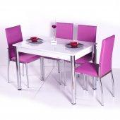 Gökkuşağı Mutfak Masası Yemek Takımı Masa Takımı Sandalye 10 Renk-4