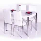 Gökkuşağı Mutfak Masası Yemek Takımı Masa Takımı Sandalye 10 Renk-6